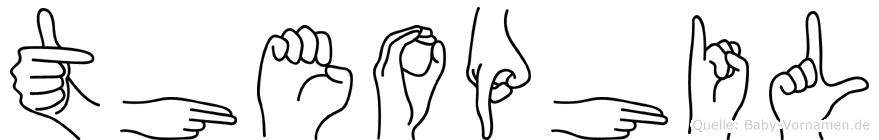 Theophil im Fingeralphabet der Deutschen Gebärdensprache