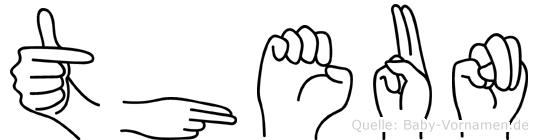 Theun im Fingeralphabet der Deutschen Gebärdensprache