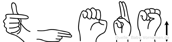 Theuß in Fingersprache für Gehörlose