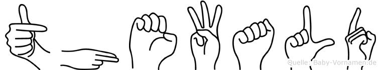 Thewald in Fingersprache für Gehörlose