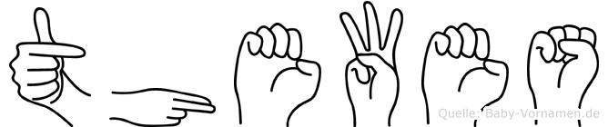 Thewes im Fingeralphabet der Deutschen Gebärdensprache