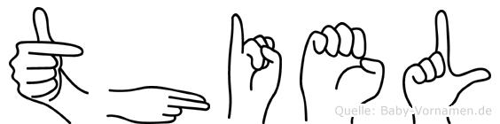 Thiel im Fingeralphabet der Deutschen Gebärdensprache