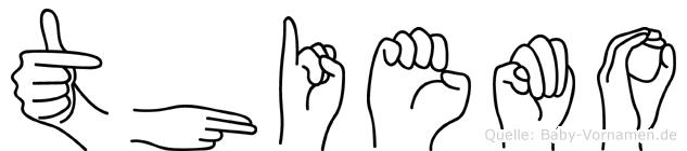 Thiemo im Fingeralphabet der Deutschen Gebärdensprache