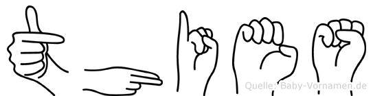 Thies in Fingersprache für Gehörlose