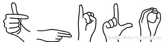 Thilo im Fingeralphabet der Deutschen Gebärdensprache