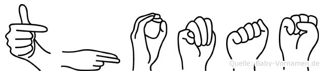 Thomas in Fingersprache für Gehörlose