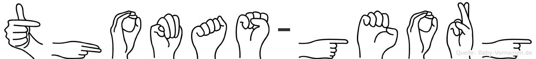 Thomas-Georg im Fingeralphabet der Deutschen Gebärdensprache
