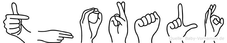 Thoralf im Fingeralphabet der Deutschen Gebärdensprache