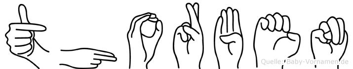Thorben im Fingeralphabet der Deutschen Gebärdensprache