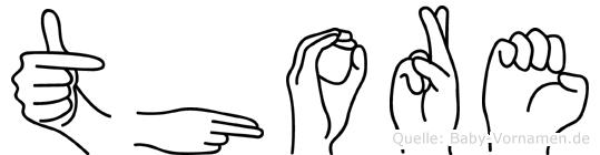 Thore im Fingeralphabet der Deutschen Gebärdensprache