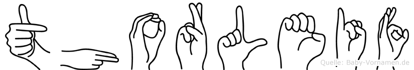 Thorleif im Fingeralphabet der Deutschen Gebärdensprache