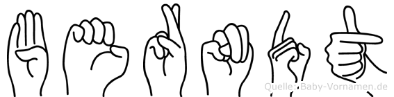 Berndt in Fingersprache für Gehörlose