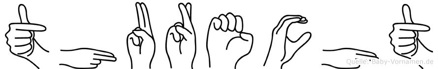 Thurecht im Fingeralphabet der Deutschen Gebärdensprache