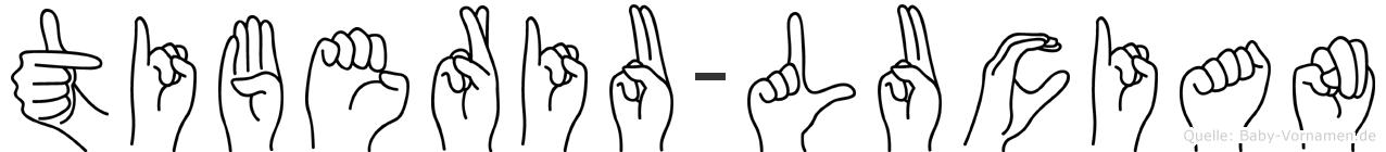Tiberiu-Lucian im Fingeralphabet der Deutschen Gebärdensprache