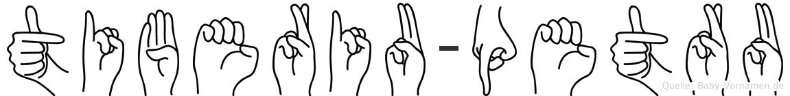 Tiberiu-Petru im Fingeralphabet der Deutschen Gebärdensprache