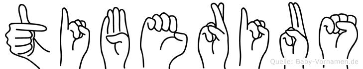 Tiberius im Fingeralphabet der Deutschen Gebärdensprache