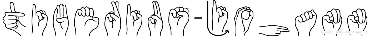 Tiberius-Johann im Fingeralphabet der Deutschen Gebärdensprache
