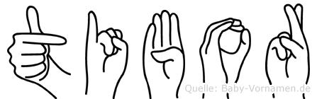 Tibor in Fingersprache für Gehörlose