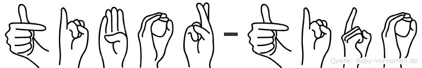 Tibor-Tido im Fingeralphabet der Deutschen Gebärdensprache