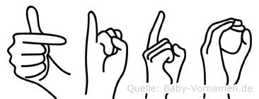 Tido im Fingeralphabet der Deutschen Gebärdensprache