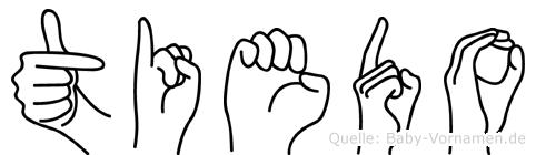 Tiedo im Fingeralphabet der Deutschen Gebärdensprache