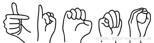 Tiemo im Fingeralphabet der Deutschen Gebärdensprache