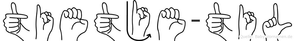 Tietje-Til im Fingeralphabet der Deutschen Gebärdensprache