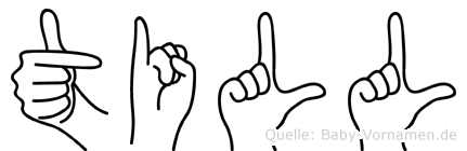 Till in Fingersprache für Gehörlose