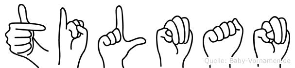 Tilman im Fingeralphabet der Deutschen Gebärdensprache