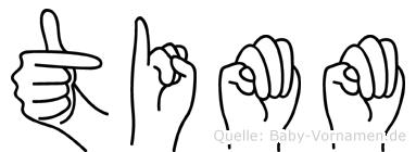Timm im Fingeralphabet der Deutschen Gebärdensprache