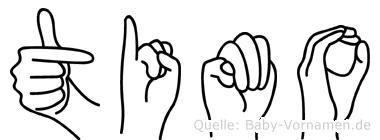 Timo im Fingeralphabet der Deutschen Gebärdensprache