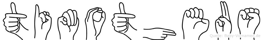 Timotheus in Fingersprache für Gehörlose