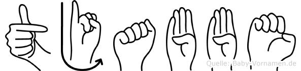 Tjabbe in Fingersprache für Gehörlose