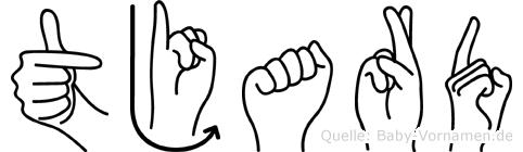 Tjard in Fingersprache für Gehörlose
