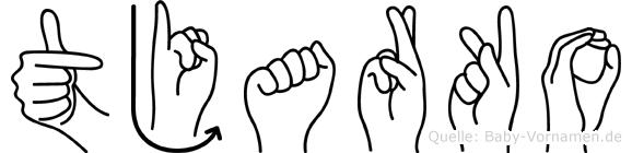 Tjarko im Fingeralphabet der Deutschen Gebärdensprache
