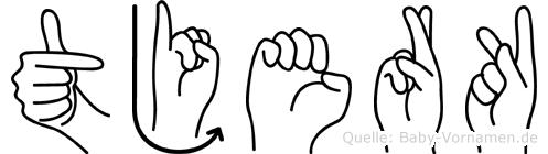 Tjerk in Fingersprache für Gehörlose