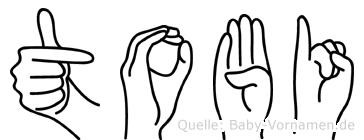 Tobi in Fingersprache für Gehörlose