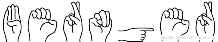 Bernger in Fingersprache für Gehörlose