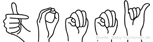 Tommy in Fingersprache für Gehörlose