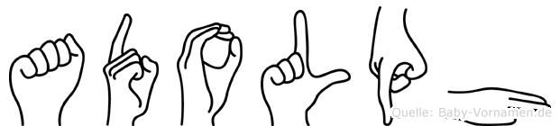 Adolph in Fingersprache für Gehörlose
