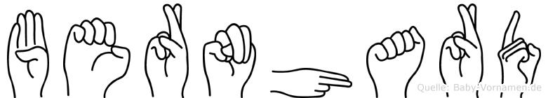 Bernhard im Fingeralphabet der Deutschen Gebärdensprache