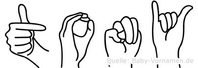 Tony in Fingersprache für Gehörlose