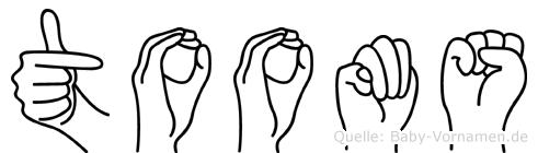 Tooms in Fingersprache für Gehörlose