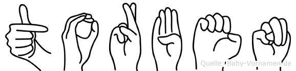Torben im Fingeralphabet der Deutschen Gebärdensprache