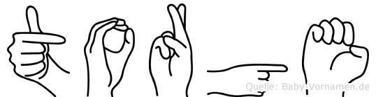 Torge im Fingeralphabet der Deutschen Gebärdensprache