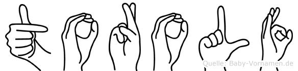 Torolf in Fingersprache für Gehörlose