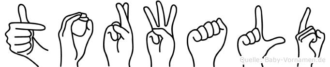 Torwald in Fingersprache für Gehörlose