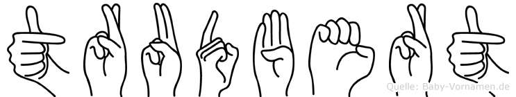 Trudbert in Fingersprache für Gehörlose