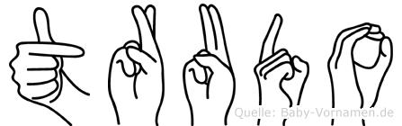 Trudo in Fingersprache für Gehörlose
