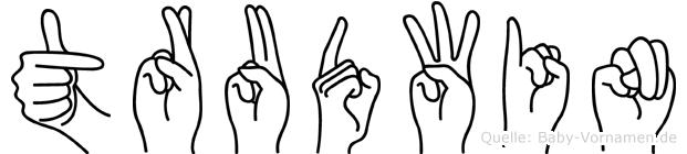 Trudwin im Fingeralphabet der Deutschen Gebärdensprache